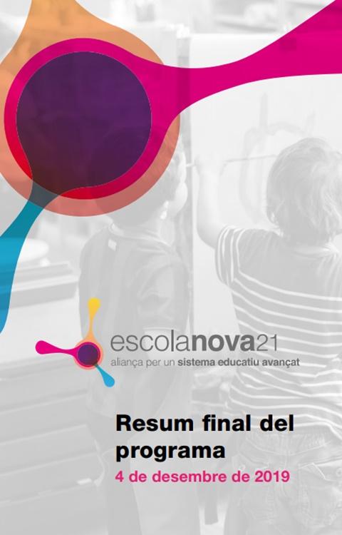 Dossier de premsa: Acte de finalització d'Escola Nova 21
