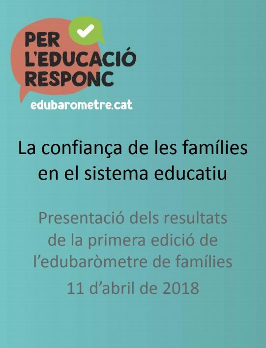 Presentació: La confiança de les famílies en el sistema educatiu