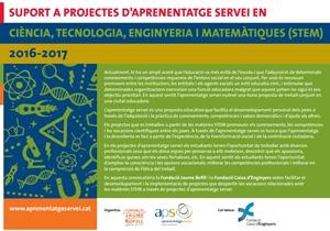 Suport a projectes d'aprenentatge servei en Ciència, Tecnologia, Enginyeria i Matemàtiques (STEM)