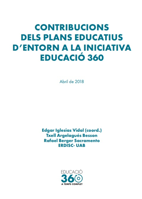 Contribucions dels plans educatius d'entorn a la iniciativa Educació 360