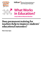 Does permanent training for teachers help to improve students' educational outcomes?
