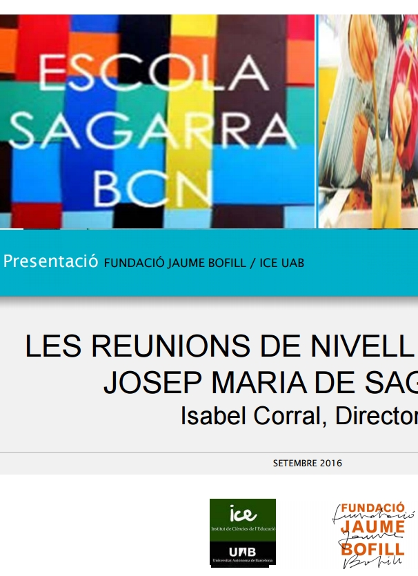 Les reunions de nivell a l'escola Josep Maria de Sagarra