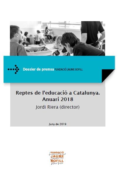 Dossier de premsa: Reptes de l'educació a Catalunya. Anuari 2018