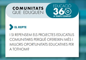 #ComunitatsQueEduquen: personalitzar les experiències educatives clau per incrementar les oportunitats educatives