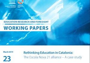 """'Paper' UNESCO: """"Rethinking Education in Catalonia: The Escola Nova 21 alliance – A case study"""""""