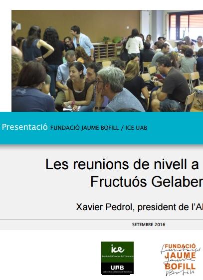 Presentació: Les reunions de nivell a l'escola Fructuós Gelabert