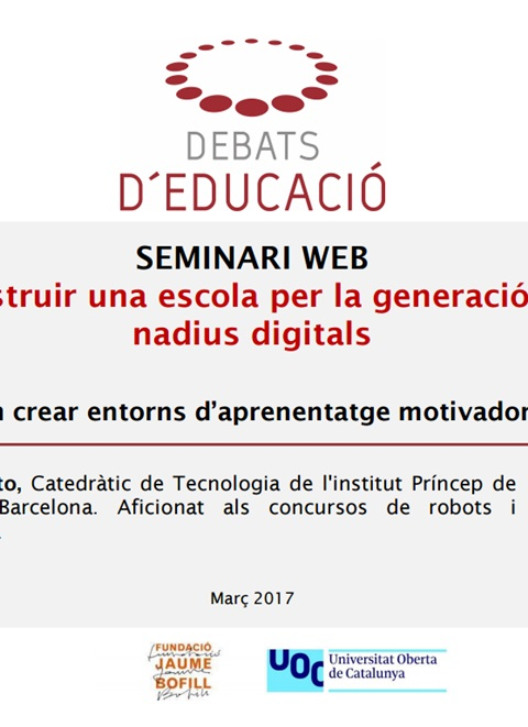 Presentació: Construir una escola per la generació de nadius digitals, Antonio Pinto
