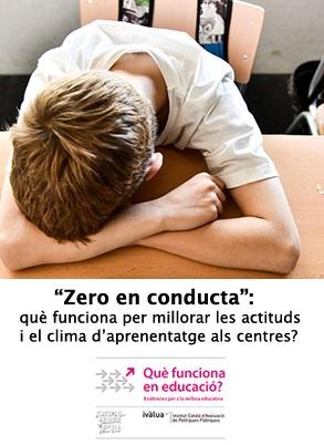 """""""Zero en conducta"""": conclusions dels experts"""