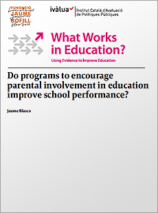 Do programs to encourage parental involvement in education improve school performance?