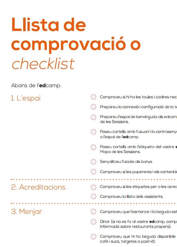 Llista de comprovació o checklist