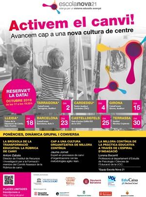 Escola Nova 21: Activem el canvi! Avancem cap a una nova cultura de centre