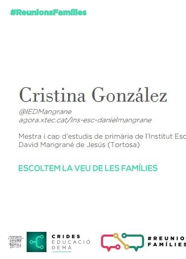 Presentació: Reunions famílies per Cristina González