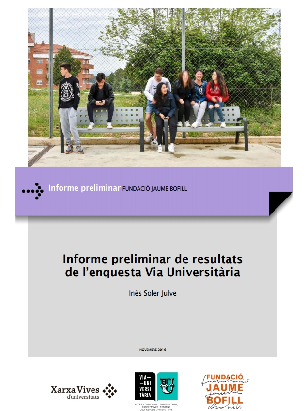 Informe preliminar de resultats de l'enquesta Via Universitària