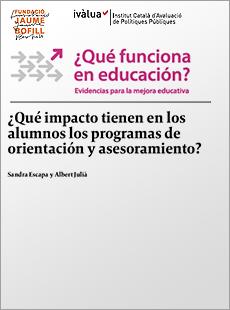 ¿Qué impacto tienen en los alumnos los programas de orientación y asesoramiento?