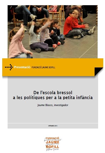 Presentació: De l'escola bressol a les polítiques per a la petita infància