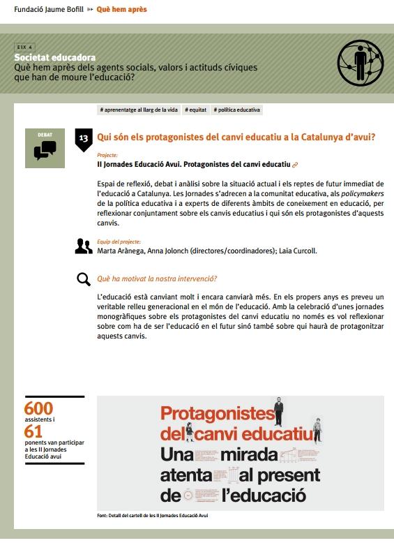 Qui són els protagonistes del canvi educatiu a la Catalunya d'avui?