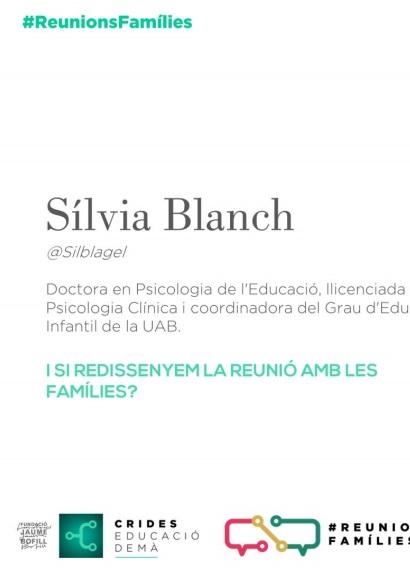 Presentació: Reunions famílies per Sílvia Blanch