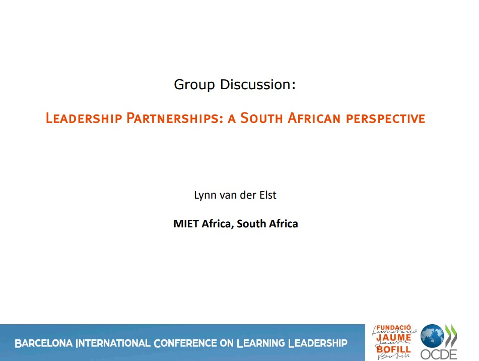 Leadership partnerships: A South African perspective