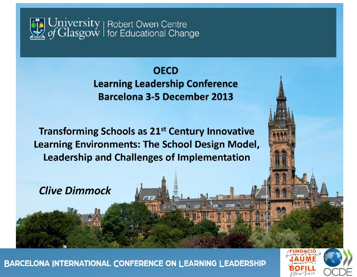 Transforming Schools as 21st Century Innovative Learning Environments: The School Design Model, Leadership and Challenges of Implementation