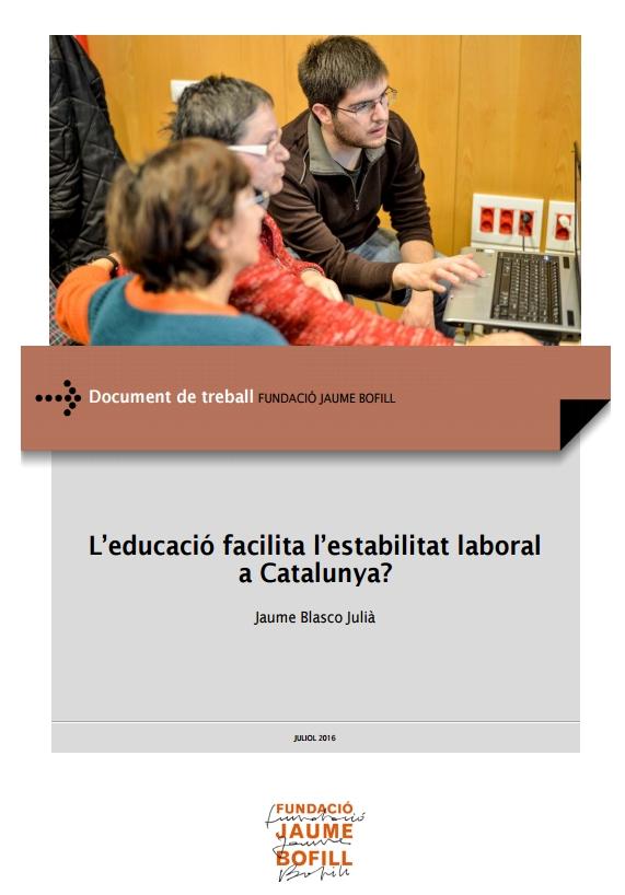 L'educació facilita l'estabilitat laboral a Catalunya?