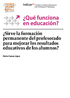 ¿Sirve la formación permanente del profesorado para mejorar los resultados educativos de los alumnos?