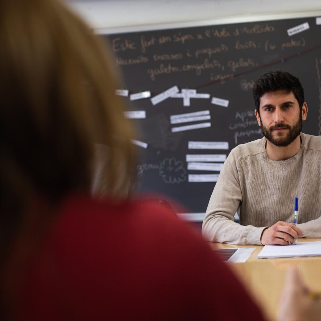 Edcamp és un moviment viral d'aprenentatge docent que en basa en la celebració de trobades autogestionades, gratuïtes i obertes a tothom amb la finalitat de compartir aprenentatges i inquietuds sobre temes educatius. Les trobades permeten desenvolupar-se personal i professionalment per transformar l'educació