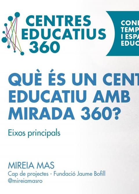 Presentació. Què és un Centre Educatiu amb mirada 360? Eixos principals