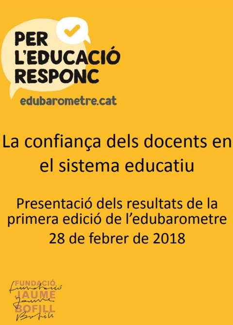 Presentació: La confiança dels docents en el sistema educatiu