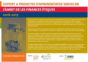 Suport a projectes d'aprenentatge servei en l'àmbit de les finances ètiques