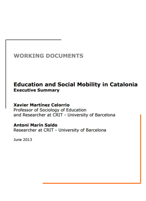 Education and Social Mobility in Catalonia