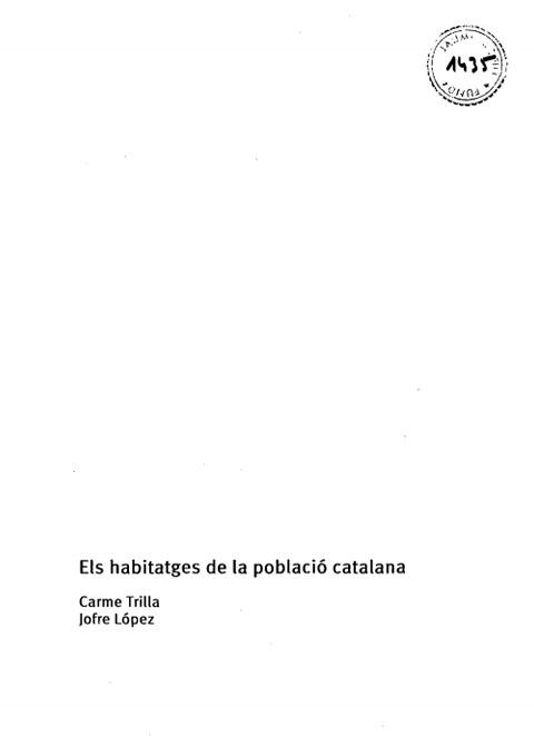 Els habitatges de la població catalana