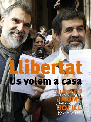 Exigim la llibertat de Jordi Sànchez i Jordi Cuixart, defensem les llibertats democràtiques i el dret de protesta i manifestació pacífica