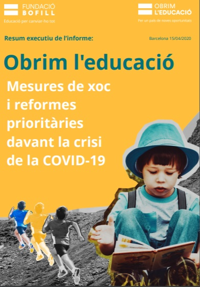 Resum executiu de l'informe: Obrim l'educació. Mesures de xoc