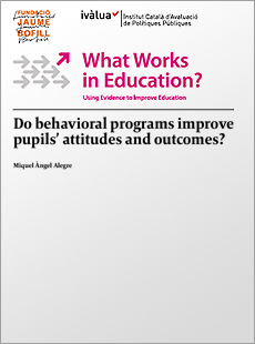 Do behavioral programs improve pupils' attitudes and outcomes?